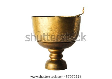 Brass Bowl from Thailand - stock photo
