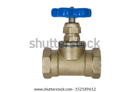 Brass faucet - stock photo