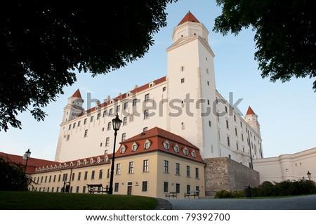 Bratislava castle in Slovakia - stock photo