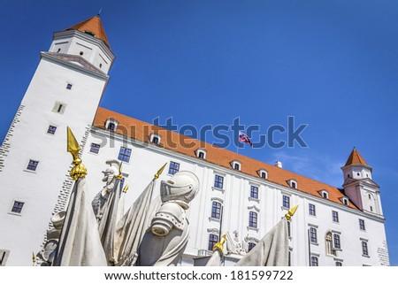 Bratislava Castle on a sunny day,  Slovakia - stock photo