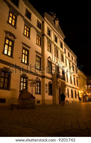 Bratislava in the night, Michael's street