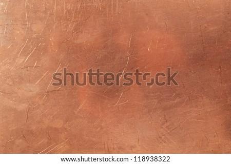 Brazen background from metal-clad glass textolite - stock photo