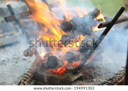 brazier for grill