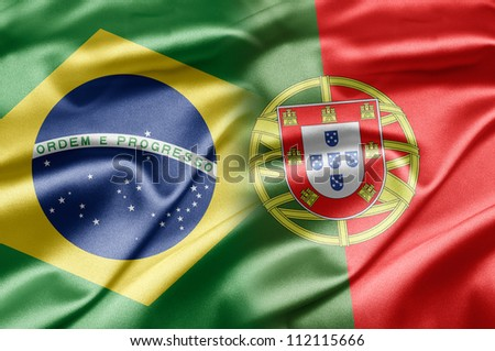 Brazil and Portugal - stock photo