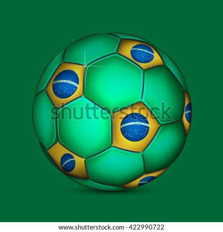 Brazil ball - stock photo