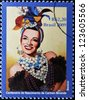 BRAZIL - CIRCA 2009: A stamp printed in Brazil shows Carmen Miranda, circa 2009 - stock photo