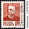 BRAZIL - CIRCA 1967: a stamp printed in the Brazil shows Campos Sales, 4th President of Brazil, 1898 - 1902, circa 1967 - stock photo