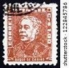 BRAZIL - CIRCA 1954: a stamp printed in the Brazil shows Duke of Caxias, Luis Alves de Lima e Silva, Officer, Politician and Monarchist, Army Marshal, circa 1954 - stock photo