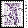 BRAZIL - CIRCA 1977: a stamp printed in the Brazil shows Sugar Cane Cutter, circa 1977 - stock photo