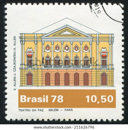 BRAZIL - CIRCA 1978: stamp printed by Brazil, shows  Paz Theater, Belem, circa 1978