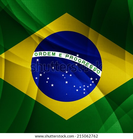 Brazil flag and abstract background