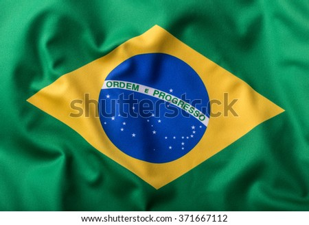 Brazil flag. Brazilian flag with text Ordem E Progresso.