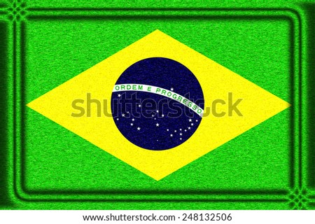 Brazil Flag Icon illustration - stock photo