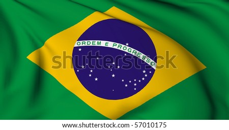 Brazil flag World flags Collection - stock photo
