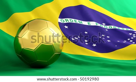 brazil football - stock photo