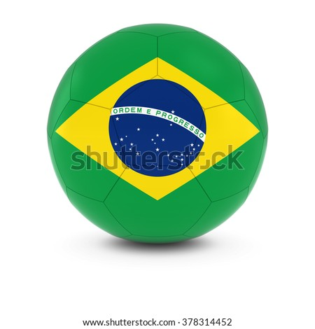 Brazil Football - Brazilian Flag on Soccer Ball