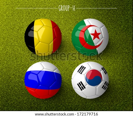 Brazil 2014, group H. (org. size: 3000x2500px) - stock photo