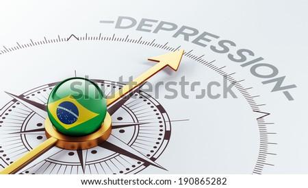 Brazil High Resolution Depression Concept - stock photo