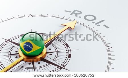Brazil High Resolution ROI Concept - stock photo