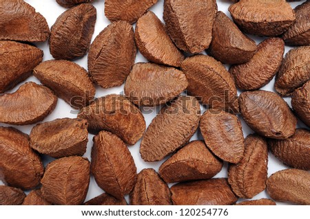 Brazil nuts for background uses - stock photo