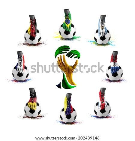 Brazil soccer championship group,abstract - stock photo