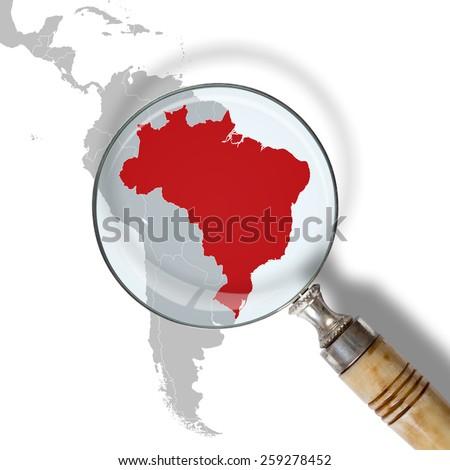 Brazil under scrutiny - stock photo