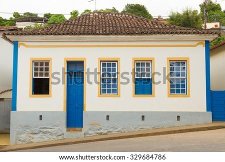 Brazilian colonial house - stock photo