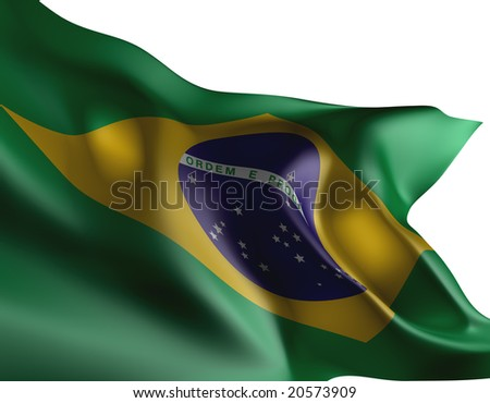 Brazilian flag - stock photo