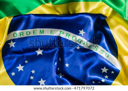 Brazilian flag Order and Progress