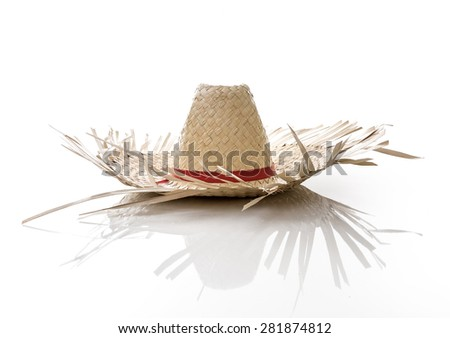 Brazilian Hat for Junina Party on white background - stock photo