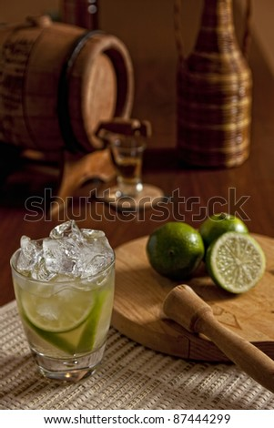 Brazilian Lime Caipirinha - stock photo
