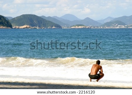 Brazilian man on Copacabana Beach