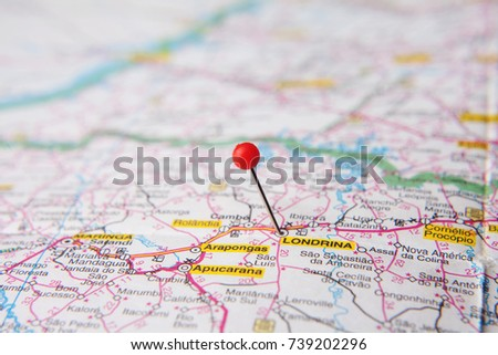 Parana Map Stock Images RoyaltyFree Images Vectors Shutterstock - Londrina map