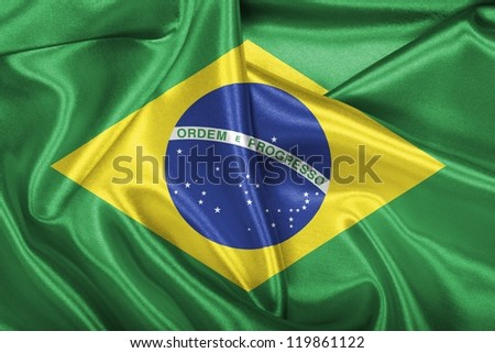 Brazilian national flag. - stock photo