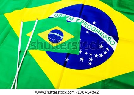 Brazilian national flag - stock photo