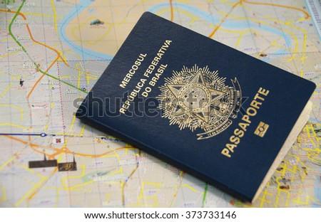 Brazilian passport - stock photo