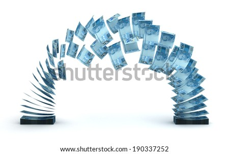 Brazilian Real Transfer - stock photo