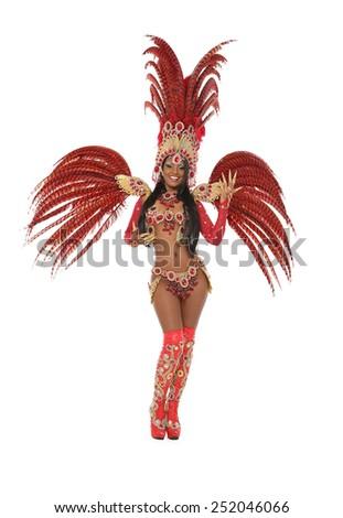 brazilian samba dancer - stock photo