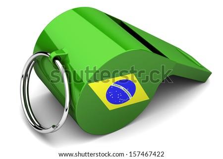 Brazilian whistle - stock photo