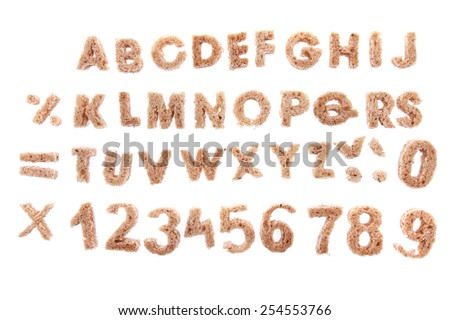 bread alphabet - stock photo