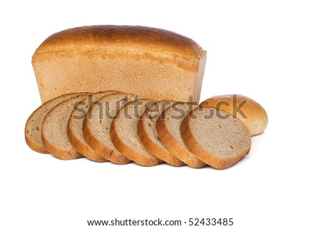 bread and bun on white