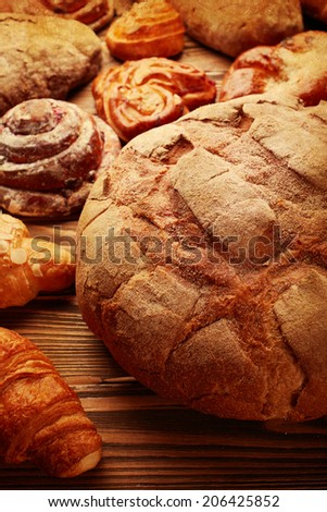 Bread and buns  - stock photo