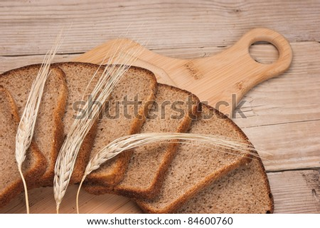 bread and ears on the table