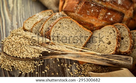 Bread and Wheat Food Concept