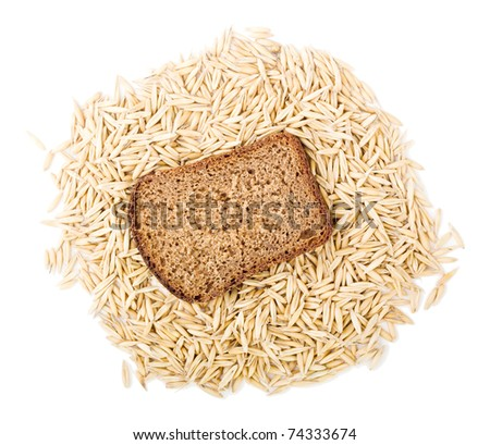 bread for sandwich isolated on white - stock photo