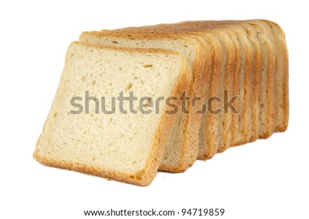 bread for toast isolated on white background