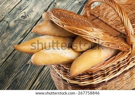 Bread. French Bread - stock photo