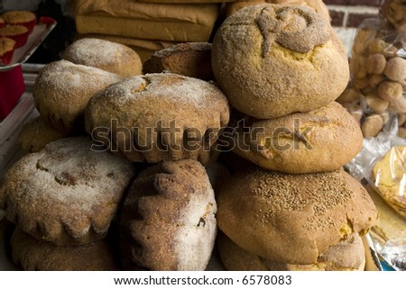 Bread in a Market in Chiapas Mexico - stock photo