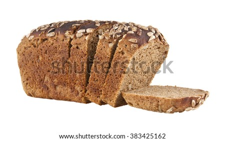 bread is isolated on a white background