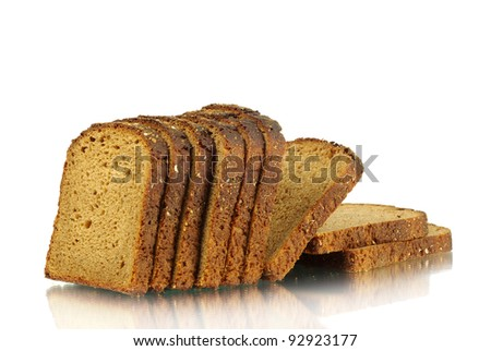 Bread isolated on a white - stock photo